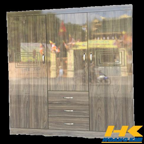 Tủ Áo 3 Cánh 1m6 Gỗ MDF Melamine Sơn Bóng Màu Nết