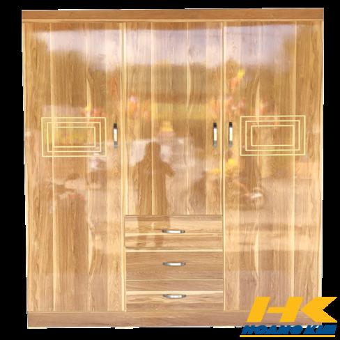 Tủ Áo 3 Cánh 1m6 Gỗ MDF Melamine Sơn Bóng Màu Vàng 195