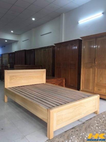 Giường Ngủ Gỗ Sồi Nga 1m6x2m Màu Tự Nhiên