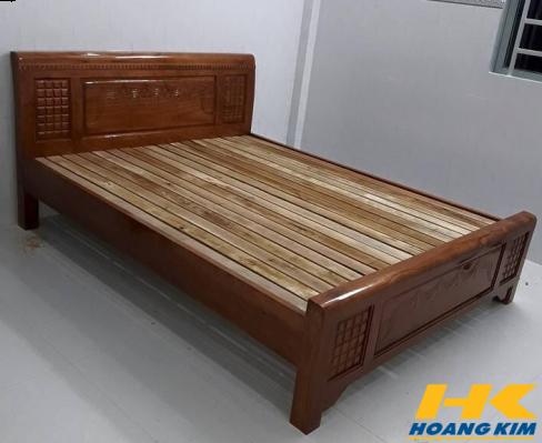 Giường Ngủ Gỗ Sồi Nga 1m6x2m Màu Cánh Gián