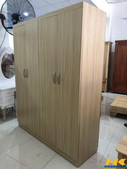 Tủ Áo Gỗ MDF 4 Cánh Melamine Vân Lim