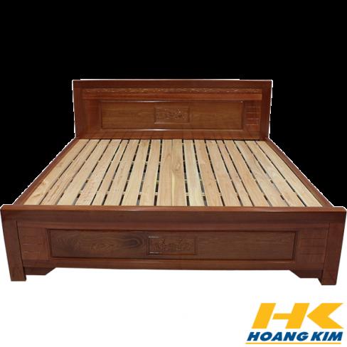 Giường Ngủ Gỗ Sồi Nga 1m8x2m Màu Cánh Gián
