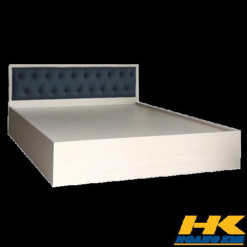 Giường Ngủ Gỗ MDF Phủ Melamine Bọc Nệm Hiện Đại Màu Vân Lim HK 240