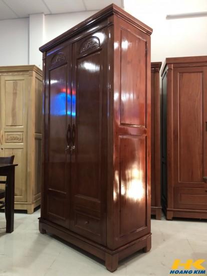 Tủ Áo 2 Cánh Gỗ Xoan Đào Tự Nhiên