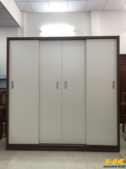 Tủ Áo Cửa Lùa 2m Gỗ MDF Melamine Cánh Trắng